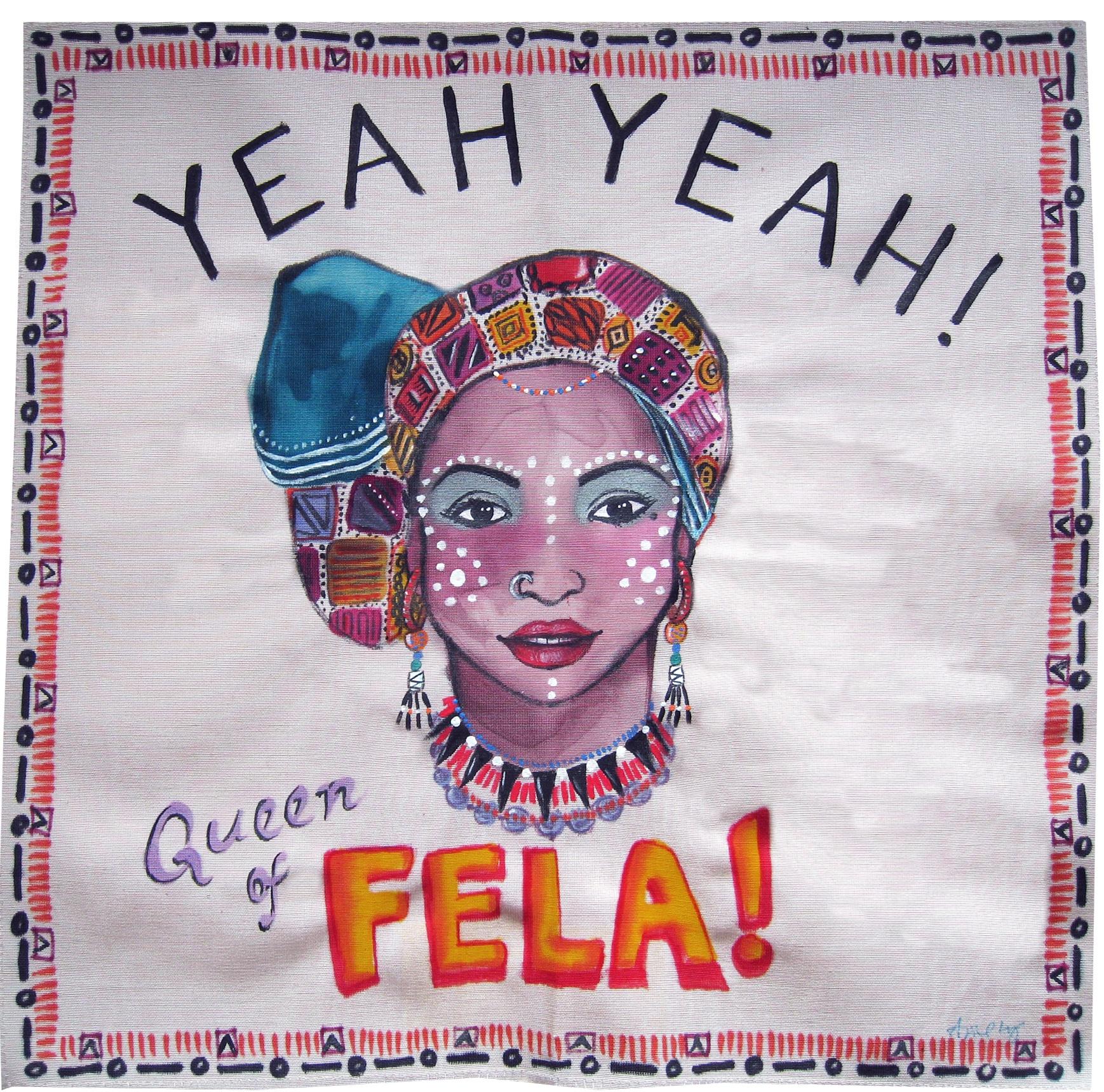 Painting on Silk - Fela Queen 2