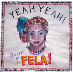 Painting on Silk - Fela Queen 2