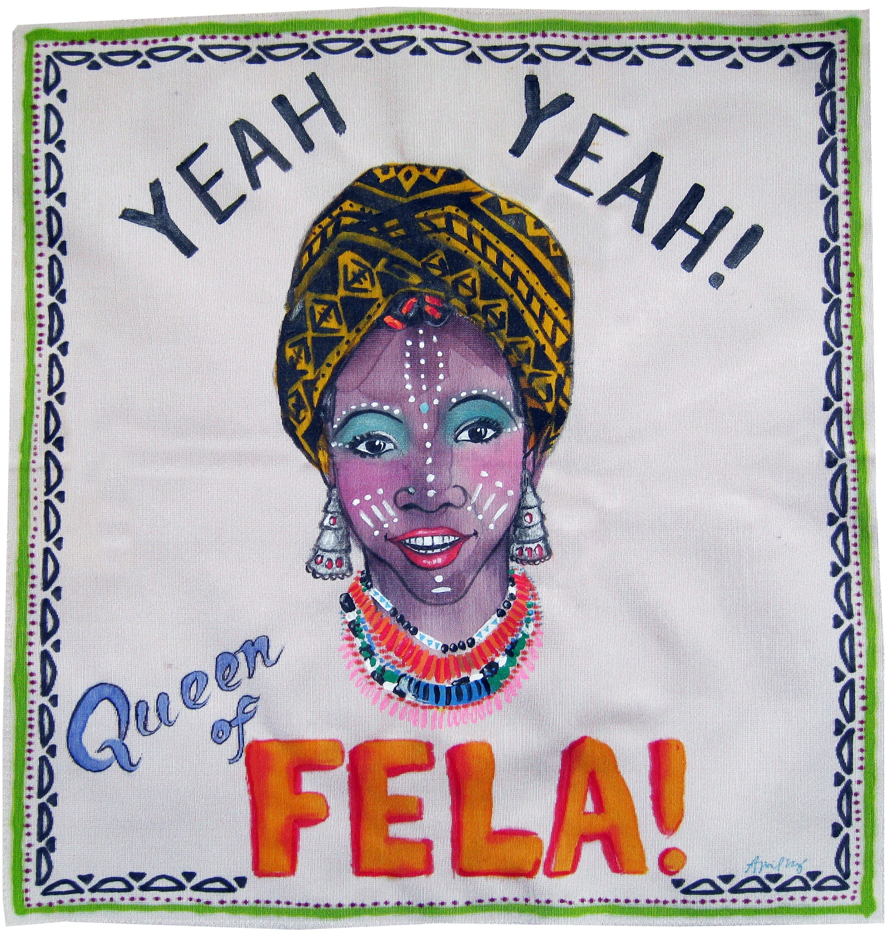 Painting on Silk - Fela Queen 1
