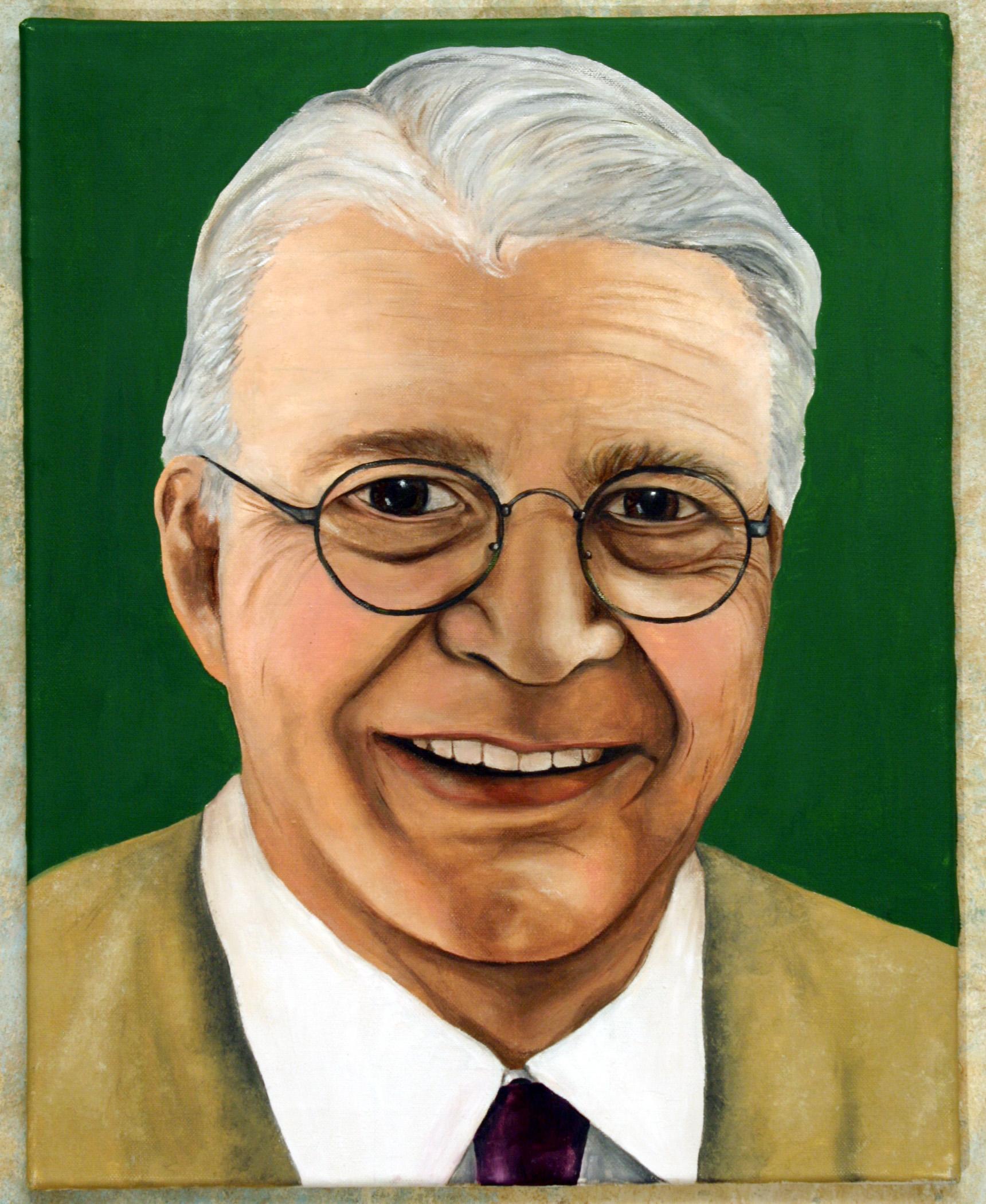 herald oil portrait