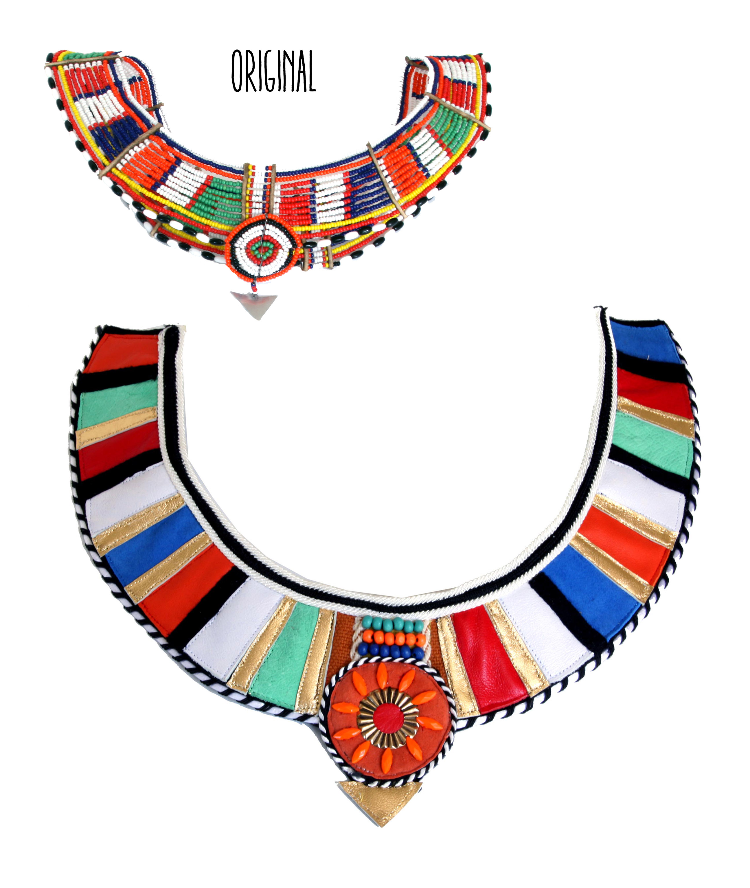 Classic Nigerian Beaded Collar