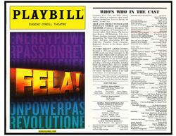 Playbill with credits