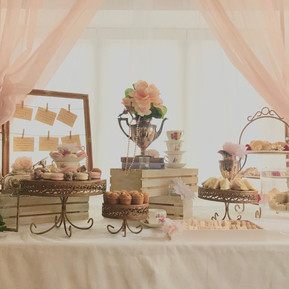 tea time feature table & backdrop