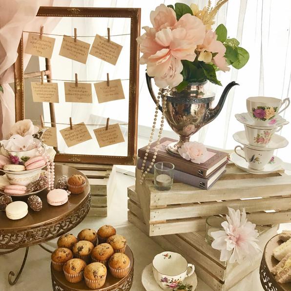 tea time feature table & backdrop