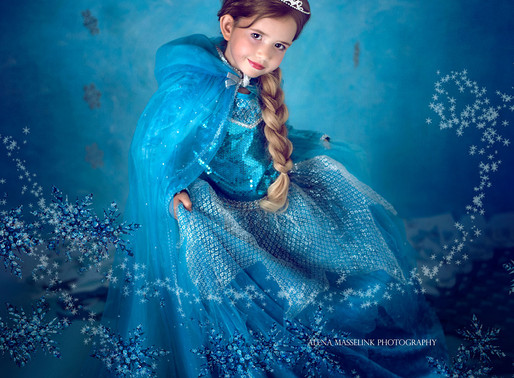 Frozen Disney princess styled photoshoot with alena masselink photography