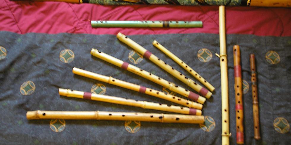 Bamboo Flute and Brushstroke