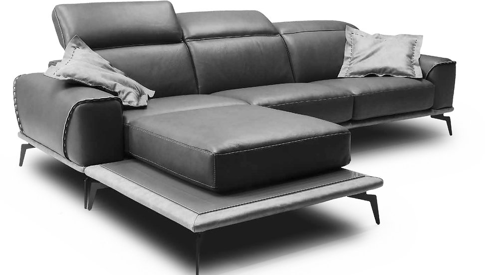 Arran Italian Leather Sofa Set, produced by London Furniture Company.
