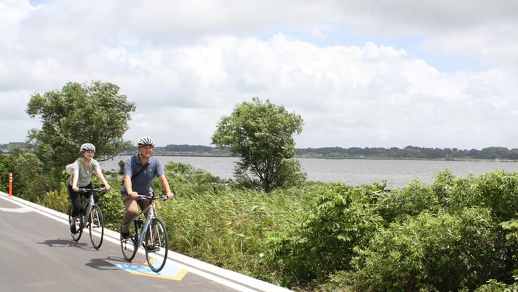 霞ケ浦湖畔を自転車で!