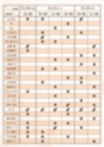 東京出演日程表