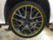Yellow Alloygator wheel protection