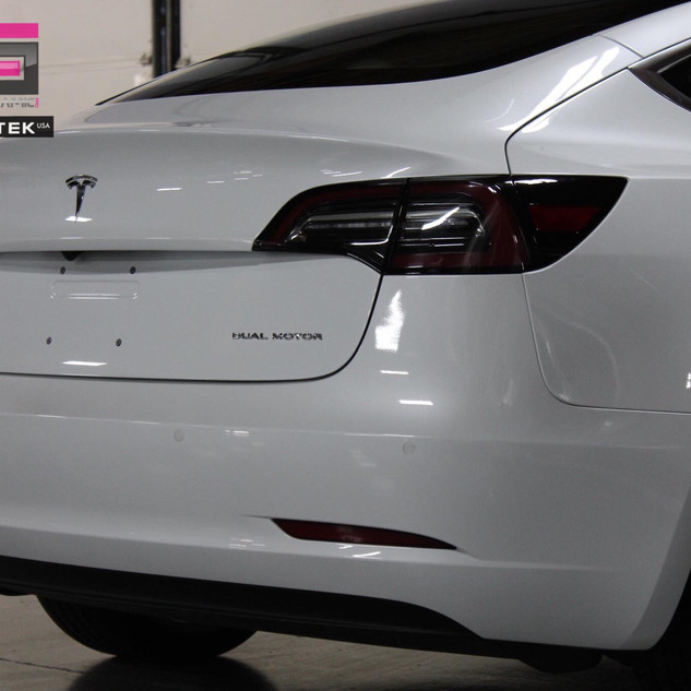 Tesla Rear with PPF.