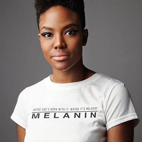 Women's Graphic T-Shirt - Maybe She's Born With It | Melanin