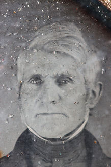Detail of Daguerreotype showing deterioration in cover glass