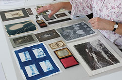 Susie Clark training and teaching about photographic processes