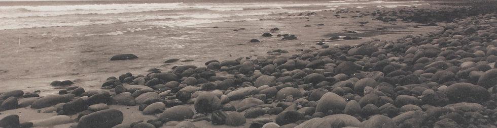 Platinum print of seascape