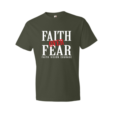 Faith over Fear Black T-Shirt