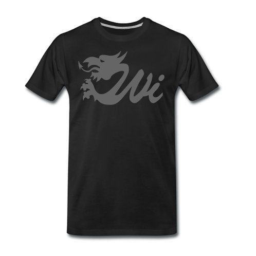 Wale Interactive T-Shirt - Black with Grey Logo
