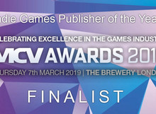 MCV AWARDS FINALIST FOR BEST INDIE GAMES LABEL 2019