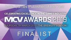 MCV AWARDS FINALIST FOR BEST INDIE GAMES LABEL 2019
