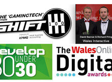 GAMINGTECH SHIFT 100, DEVELOP 30 UNDER 30 AND WALES ONLINE DIGITAL AWARDS