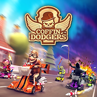 Coffin Dodgers, Video Game, Logo, PS4, Xbox One, PC