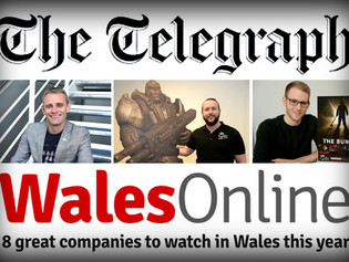 A FEATURE  IN THE TELEGRAPH & NAMED ONE OF THE 8 GREAT COMPANIES TO WATCH IN WALES THIS YEAR!