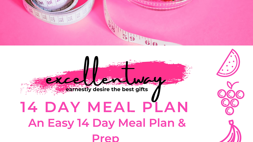 14 Meal Plan for Beginners