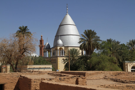 The silver domed Mahdi's Tomb in Omdurman built in 1947