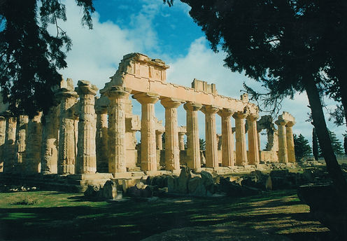 The magnificent Temple of Zeus built in the 5th century BC at the ancient Greek city of Apollonia
