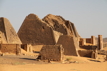 The atmospheric Royal Tombs at the Northern comples of Meroe