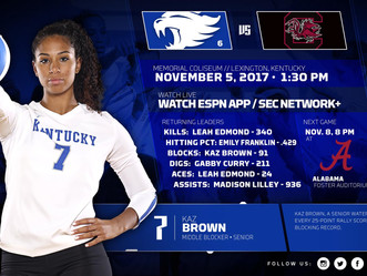 UK Volleyball back in action at home Sunday