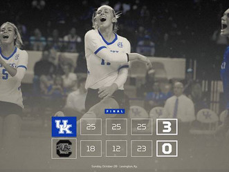 UK Volleyball extend win streak to 13 matches. Photo Gallery and Coach Skinner video