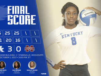 #10 Volleyball earns a W on the road