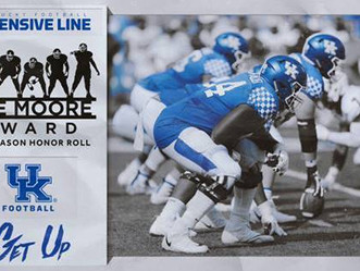 Kentucky Offensive Line Named to Midseason Honor Roll for Joe Moore Award