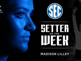 Five Straight Weeks - SEC Honor for Volleyball