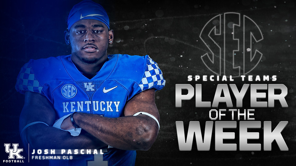 Josh Paschal SEC Special Teams Player of the Week