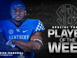 Josh Paschal - SEC Special Teams Player of the Week