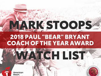 "Mark Stoops Added to Watch List for 2018 Paul ""Bear"" Bryant Coach of the Year"