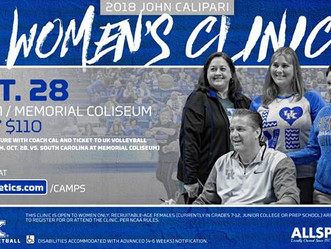 2018 Coach Calipari Womens Clinic Announced