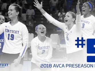 UK Volleyball #5 In AVCA Poll
