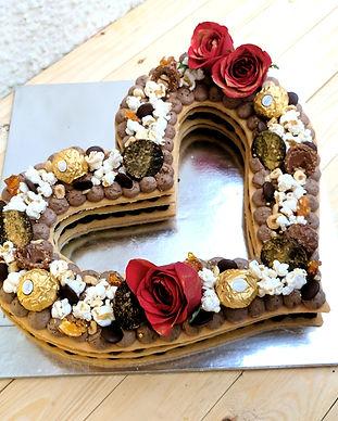 Heart Cookie Cake_Triple Chocolate & Haz