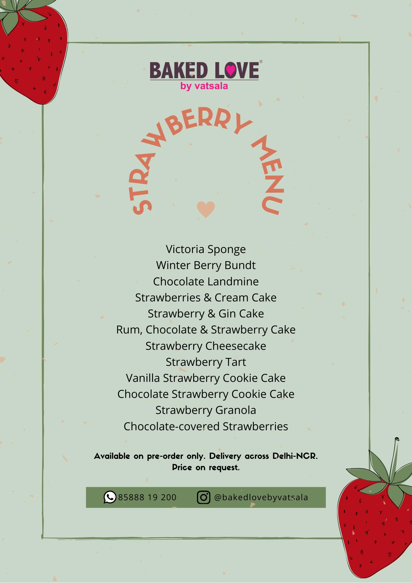 Strawberry menu