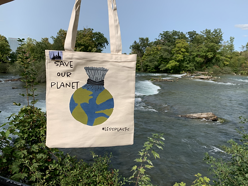 Tote Bag - Save Our Planet #lessplastic