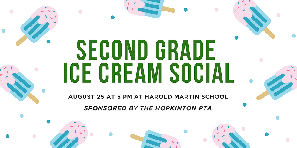 Second Grade Ice Cream Social