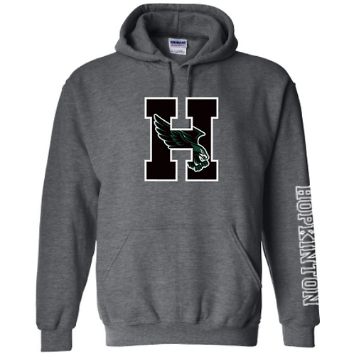 Grey Hooded Sweatshirt (Adult & Youth)