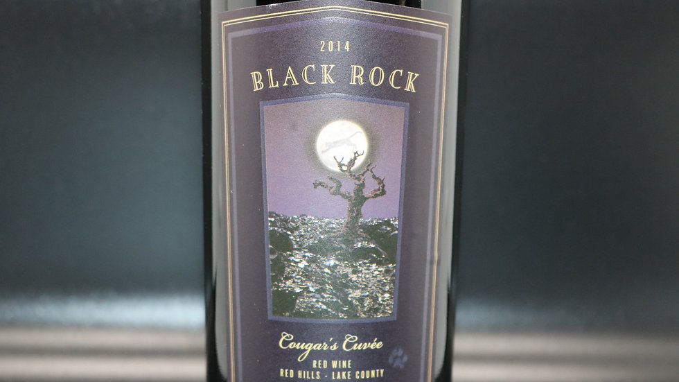 Cougar's Leap Winery, Black Rock Cougar's Cuvee, Lake County, 2014