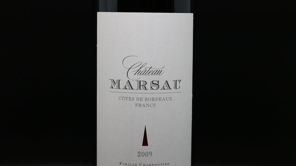 Château Marsau,  Côtes de Bordeaux, Bordeaux France, 2009
