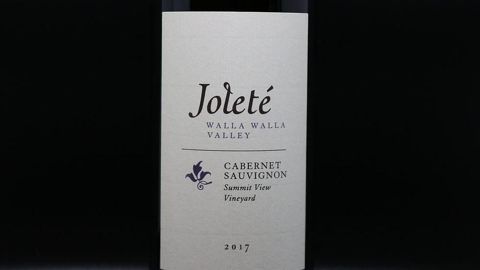 Joleté,  Summit View Vineyard Cabernet Sauvignon, Walla Walla Valley WA, 2017