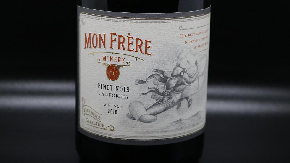 Mon Frère Winery, Pinot Noir, California, 2018