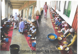Orphan Students Eating